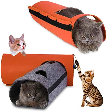 Pet Cat Tunnel – Collapsible 3 Way Play Toy – Tube Fun for Rabbits Kittens and Dogs
