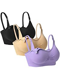 3PACK Womens Full Bust Nursing Bra Seamless Maternity Bra