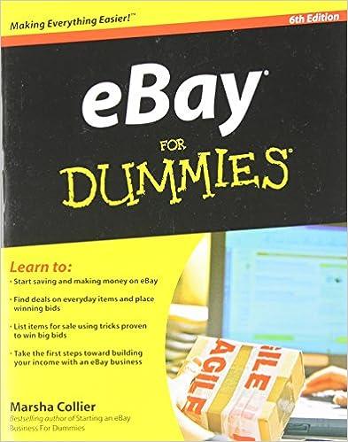 Ebay For Dummies Collier Marsha 9780470497418 Amazon Com Books