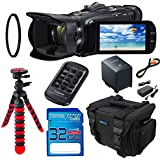Canon VIXIA HF G40 Full HD Camcorder + 32GB SD Memory Card + 12 Tripod + Accessory Bundle