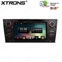 XTRONS 7 Android 7.1 Quad Core Capacitive Touch Screen Car Stereo Radio DVD Player Screen Mirroring Function OBD2 DVR for BMW E90