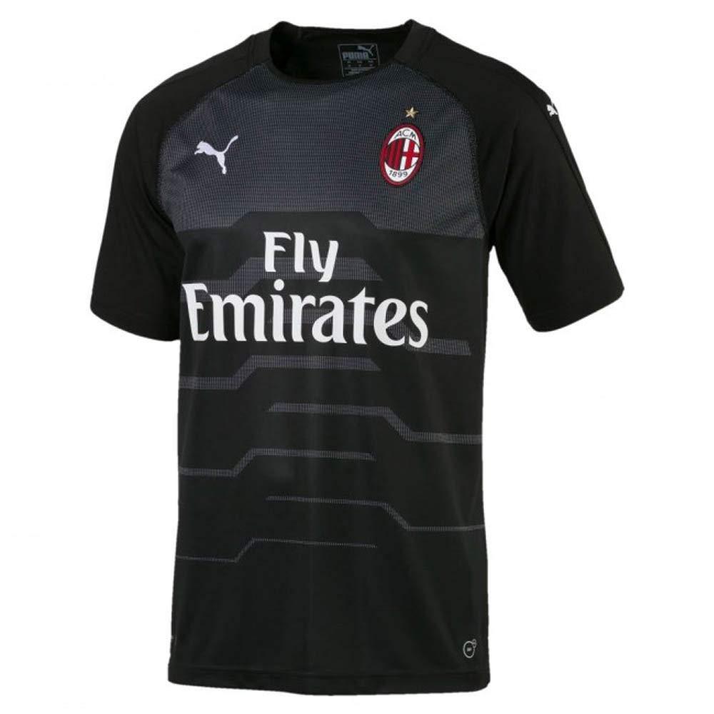 Puma 2018-2019 AC Milan Away SS Goalkeeper Football Soccer T-Shirt Trikot (schwarz) - Kids