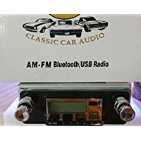 1964-1966 Ford Mustang Bluetooth enabled High power AM/FM Stereo Radio KHE300 USB Flash, Aux, Mini SD Inputs