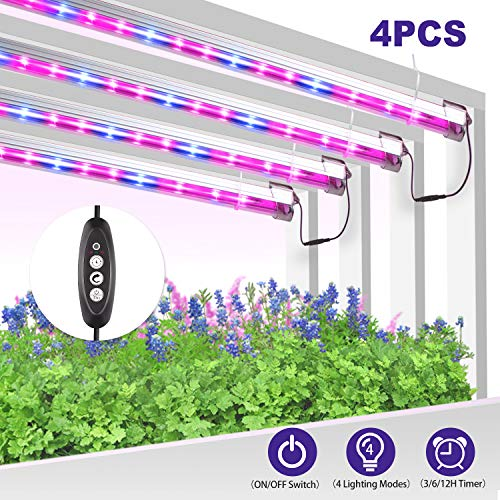 2 Sets 100W LED Grow Light Full Spectrum ON /& Off Timer Plant Growing Lamp Strip