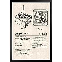 ProFrames Atari 2600 Joystick Video Gaming Official Patent Diagram Framed Poster 12x18