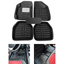 FLY5D®5Pcs Universal Auto All Weather Car Floor Mats Front & Rear Carpet Waterproof