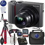 Panasonic Lumix DC-ZS200 Digital Camera (Silver) + 32GB Memory + Essential Photo Bundle