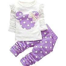 DaDa Deal Baby Girls' Toddler Kids Long Sleeve Shirt Top Pants Clothing Set Outfits