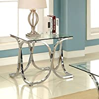 247SHOPATHOME Idf-4233E End-Tables, Chrome