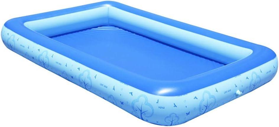 ファミリー用インフレータブルプール、急速充電、ベビーラージ肥厚プール、子供用フィッシングプール、子供用水球プール、シンプルな折りたたみ式収納、青、3サイズ L