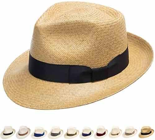 1e1d30caeb0c Ultrafino Genuine Havana Retro Panama Straw Hat Classic Lightweight