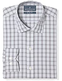 Amazon Brand - BUTTONED DOWN Men's Slim Fit Plaid Dress Shirt, Supima Cotton Non-Iron