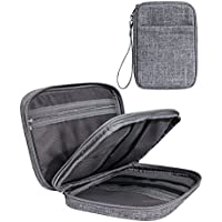 Leaper Double Layer Travel Cable Organizer Electronics Accessories Cases Gray