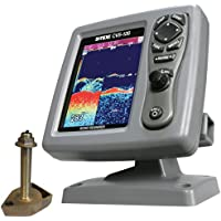 SI-TEX CVS-126 Dual Frequency Color Echo Sounder w/600kW Thru-Hull Transducer 1700/50/200T-CX