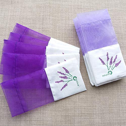 Taslon Lavender Sachets for Drawers and Closets, Beautiful Color with Fresh and Elegant Lavender Aroma, Dried Lavender Flower Sachets for Bridal Shower Favor or Party, Bag of 1 Purple Sachets