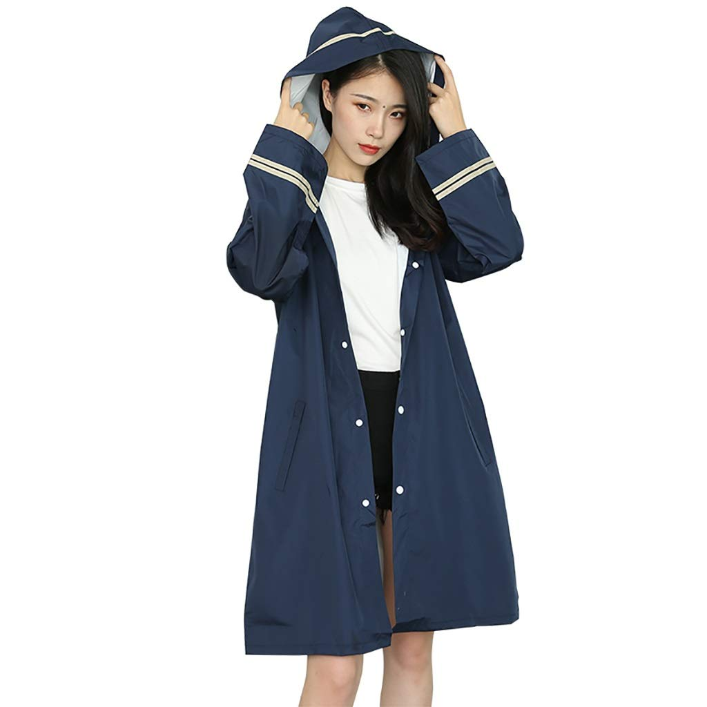 bluee Long Section Travel Light Raincoat, Poncho Coat Siamese Adult On Foot (color   bluee, Size   S)