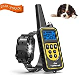 TIMPROVE 330 Yards Range Remote Dog Training Collar, Rechargeable and IPX7 Rainproof Dog Shock Collar with Beep, Vibration and Shock, Electric Dog Collar for Puppy, Small, Medium and Large Dogs (Single)