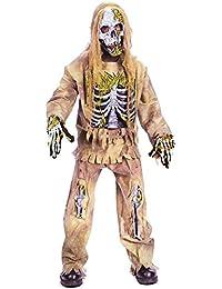 scary skeleton zombie kids costume