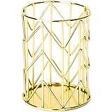 U Brands Pencil Cup, Wire Metal, Gold