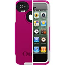OtterBox Commuter Series Case for iPhone 4/4S  - Retail Packaging - Hot Pink/White