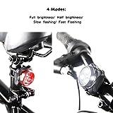 Ascher USB Rechargeable Bike Light Set,Super Bright