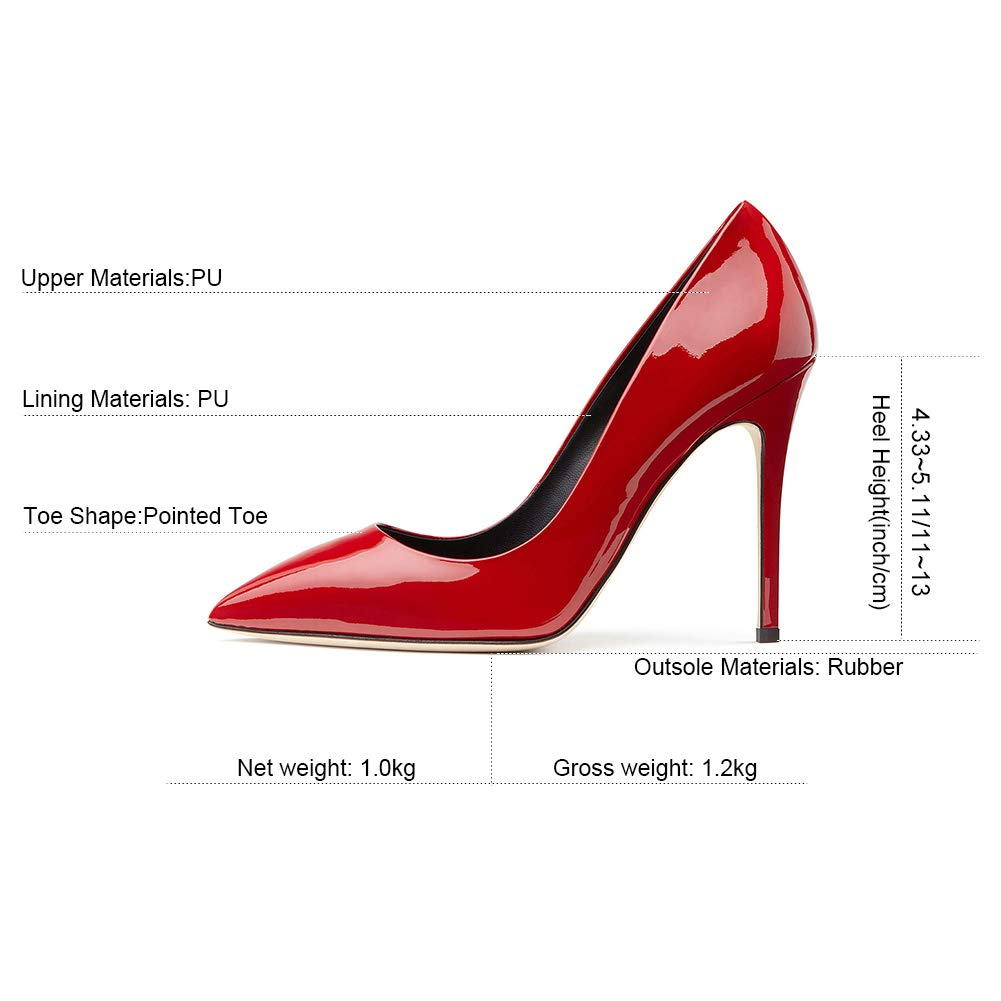 Damen Lackleder High Heels Handmade,MWOOOK-248 Handmade,MWOOOK-248 Handmade,MWOOOK-248 Party Hochzeit Schuhe Dress Stiletto Slip On schuhe 164584