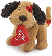 2PO Cute Plush Fetching Dog with Love Ya Red Heart Shaped Pillow 8
