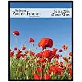 mcs 65534 original poster frame with strong pressboard backing black 16 by 20 inch