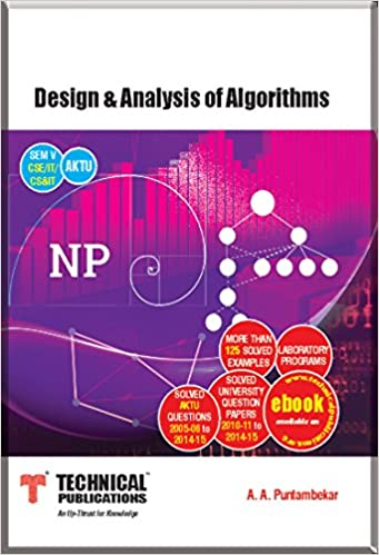 Technical Publication Book For Design And Analysis Of Algorithm