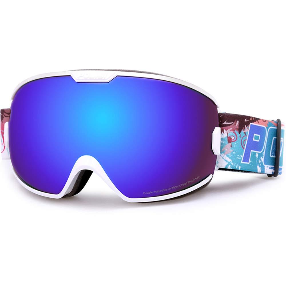 Skibrille Skibrille - PC, doppelter Anti-Fog-Effekt, große kugelförmige Oberfläche, bringt Myopie zum Tragen, erwachsene Paare für allgemeine Outdoor-Ski- und Bergsportausrüstung HD-Brille - in 5 Farb B07KWWVCN1 Skibrillen Neuer