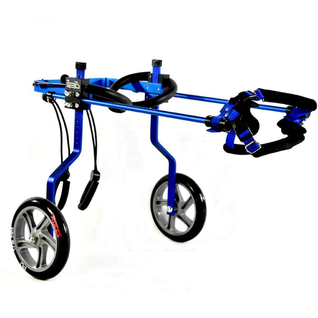 bluee XXL bluee XXL Pet hind Legs Two-Wheeled Wheelchair Pet Moped Dog Wheelchair Disability Injury Paralysis Pet Assisted Car bluee XXL