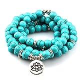 GVUSMIL 108 Mala Beads Wrap Bracelets for Yoga