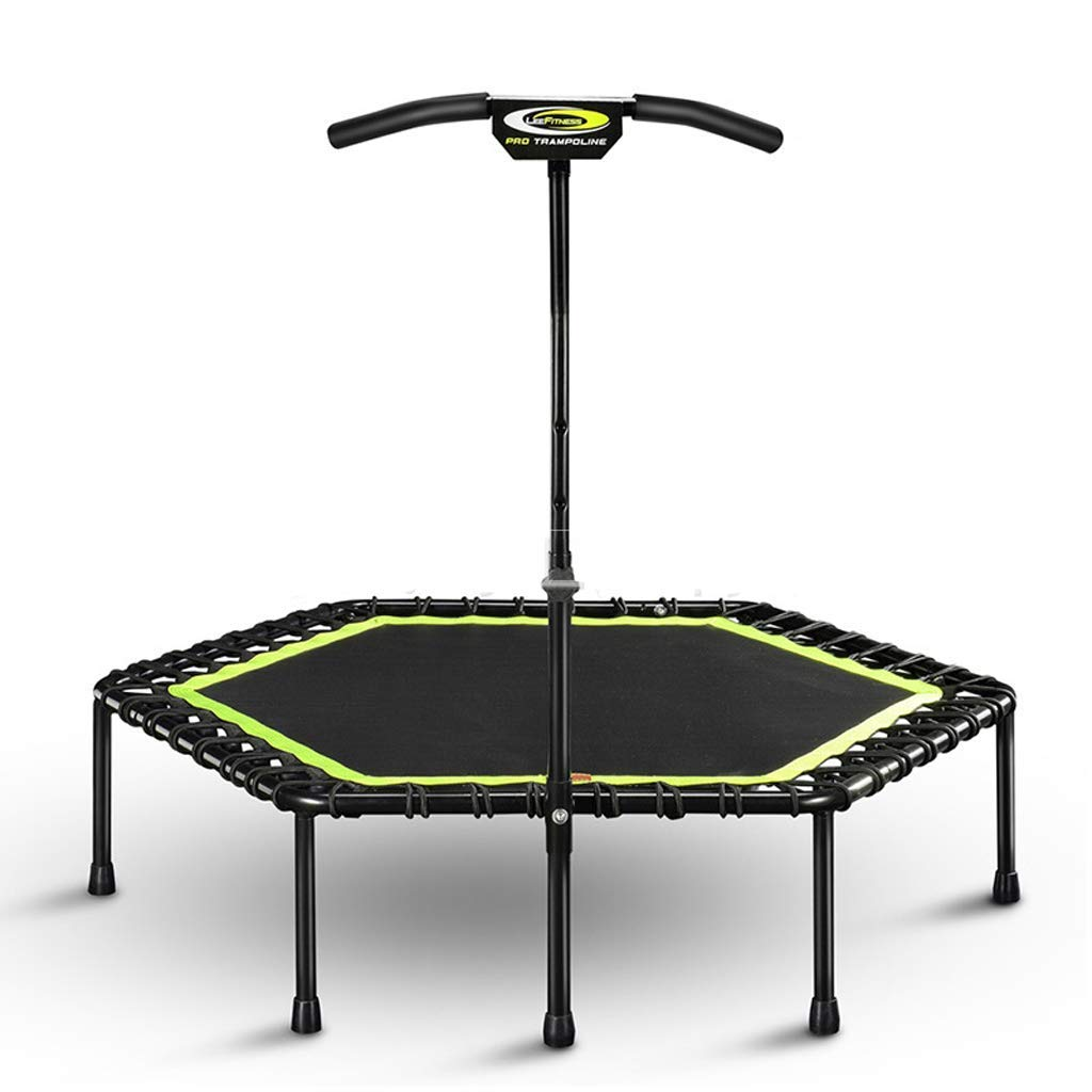 KALOY Hexagon Mini Übung Indoor Fitness Rebounder mit Adjustable Handle Bar for Kids-Best Urban Cardio Workout Home Trainer – Max Limit 330 lbs