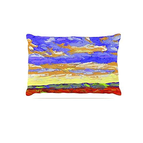 Kess InHouse Jeff Ferst After the Storm  Fleece Dog Bed, 50 by 60 , bluee Yellow