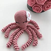 Crochet Octopus for preemies, octopus for babies, octopus for dementia/alzheimer patients - Light pink