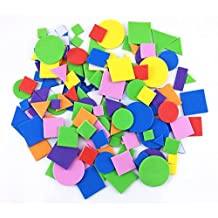 Honbay 150pcs Colorful Self Adhesive Geometry Foam Stickers