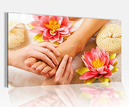 Acrylglasbild 80x50cm Wellness Massage Fuß Pediküre Spa Glasbild Bilder Acrylglas Acrylglasbilder Wandbild 14D561, Acrylglas Größe4 80cmx50cm