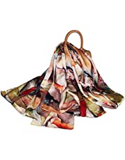FELOVE 100% Real Mulberry Silk Women Scarf Scarves Shawl Hair Wraps Beach Vacation Present …