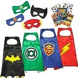 Superhero Cape and Mask Costumes with Stickers,All Original Superhero Emblem