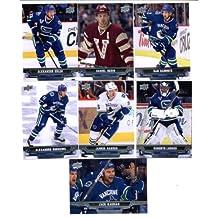 2013-14 Upper Deck NHL Hockey Vancouver Canucks Series 1 Veterans Team Set -7 Cards Including: Zack Kassian Dan Hamhuis Daniel Sedin Alexander Edler Alexandre Burrows Jannik Hansen Roberto Luongo