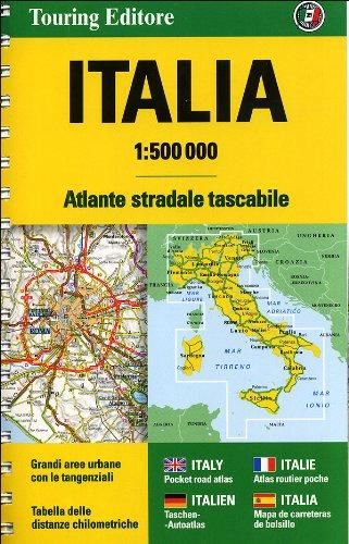 Cartina Italia Con Distanze Km.Amazon It Atlante Stradale D Italia Tascabile 500m Touring Libri
