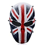 Thiroom OutdoorMaster Full Face Airsoft Mask with Metal Mesh Eye Protection