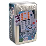 Double 12 Color Dot Dominoes in Tin