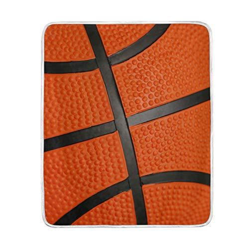 DOSHINE Couvre-lit, Sport, Balle de Basketball Doux léger Warmer couvertures 127 x 152,4 cm pour canapé lit Chaise de Bureau