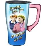 I Love Lucy Travel Mug, Blue