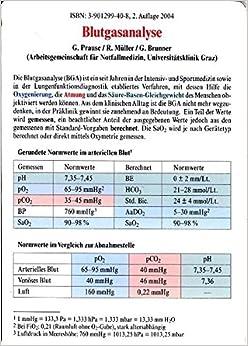 Blutgasanalyse: Amazon.de: Müller, Ralf, Prause, Gerhard