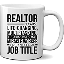 Funny Gift idea for Realtor- Realtor Miracle Worker Coffee Mug Cup 11oz- Unique Funny Gift Idea for Real Estate Agent
