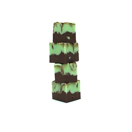 Luxury Gourmet Chocolate Peppermint Swirl Fudge by 'Oooh!..FUDGE' 280g cut and serve bar of Creamy Buttery Decadent Fudge