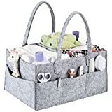 Alexbasic Baby Diaper Caddy, Nursery Felt Storage Changing...