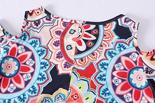 Multi Structur D'ann Sexy en Mini Fleur D't B Bal Robe Femmes Robe Vente Fin Femmes WWricotta Meilleure Dnudes Robe Robe paules Option Couleur LuckyGirls Multicolore Femmes Robe Bardot Imprim 2XL BSqanaHT